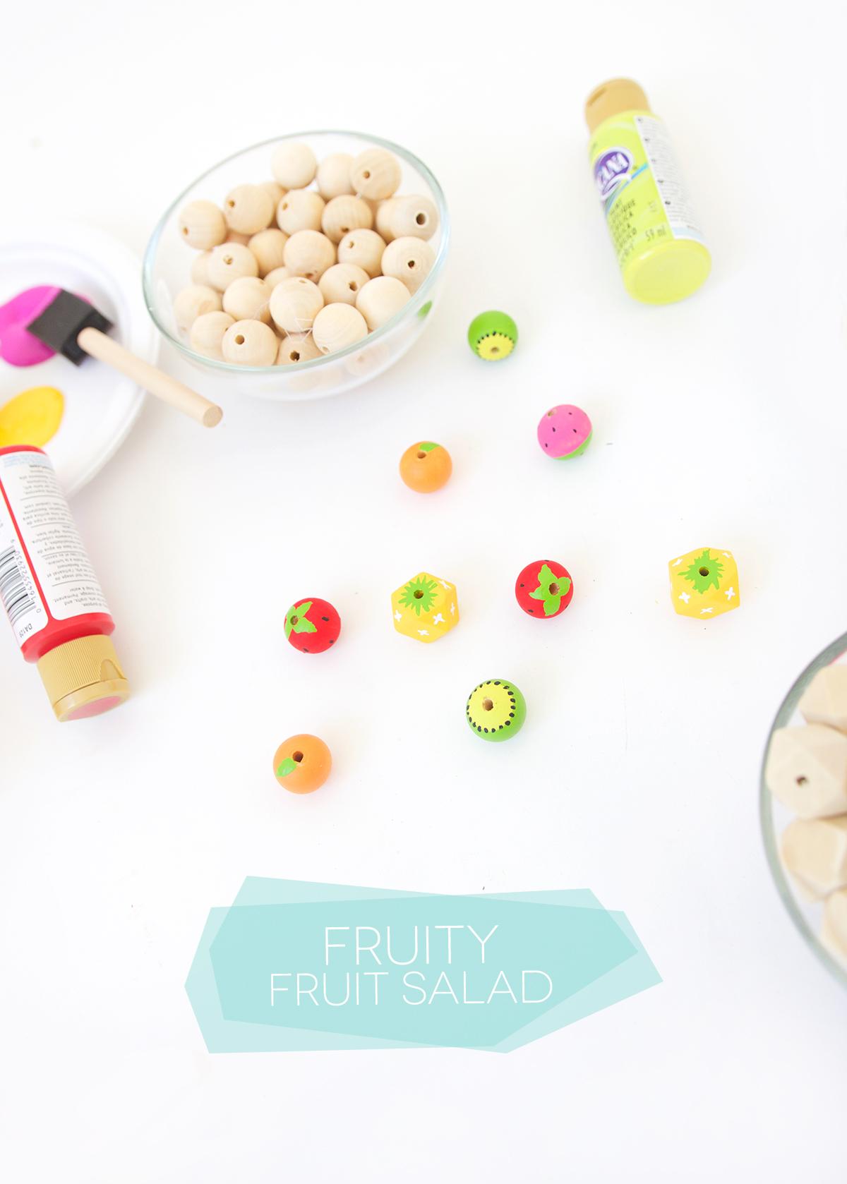Как покрасить бусины в фруктовую расцветку