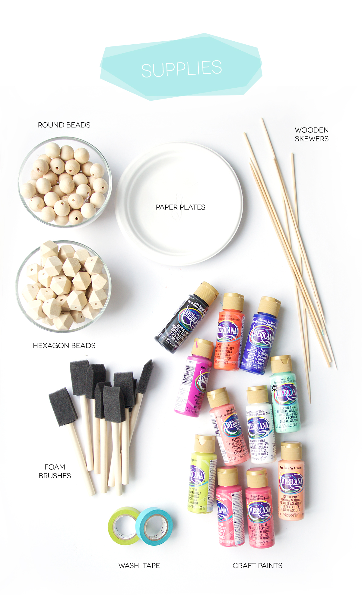 Как покрасить бусины-материалы
