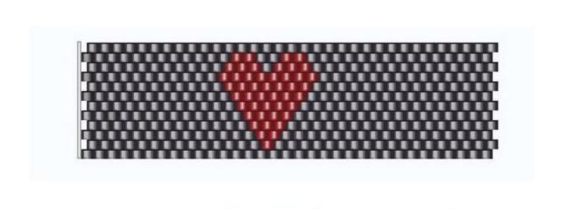 Кольцо для салфеток-схема сердца