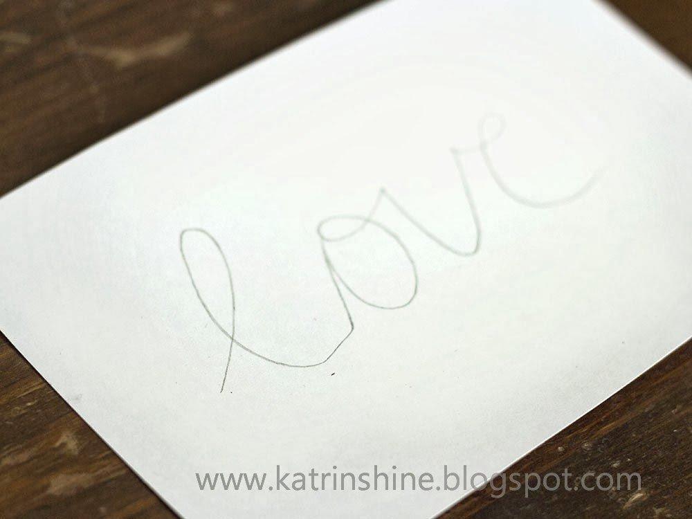 Надпись из бисера-напишите карандашом желаемое слово