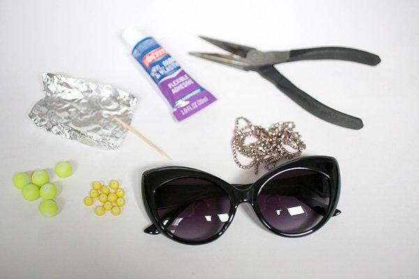 Украшение очков бисером-материалы