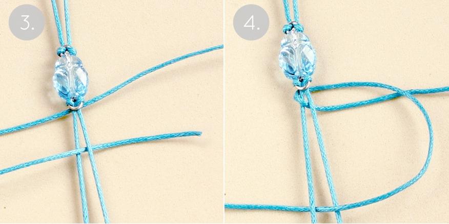 Браслет со скарабеем-закрепите шнур