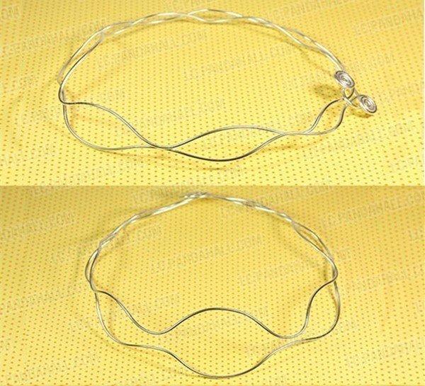 Колье из бусин с имитацией янтаря-сложите алюминиевую проволоку