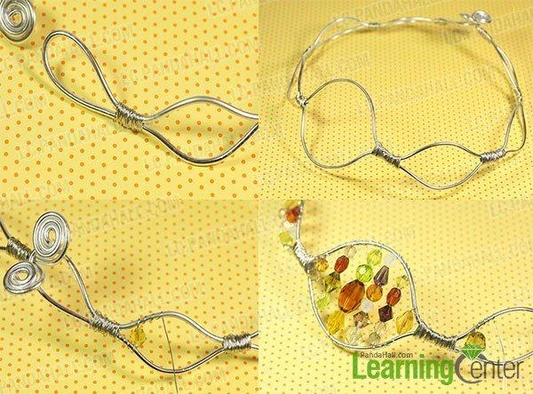 Колье из бусин с имитацией янтаря-добавьте бусины