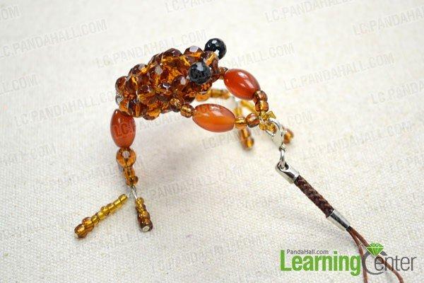 Лягушка из бисера своими руками