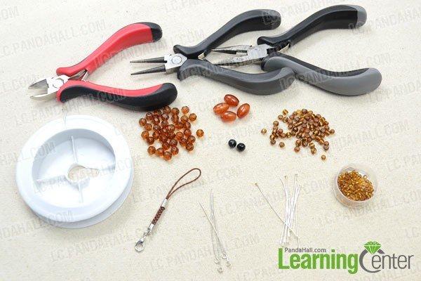 Лягушка из бисера-материалы