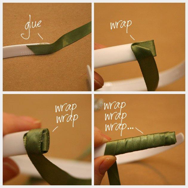 Как украсить ободок бисером?