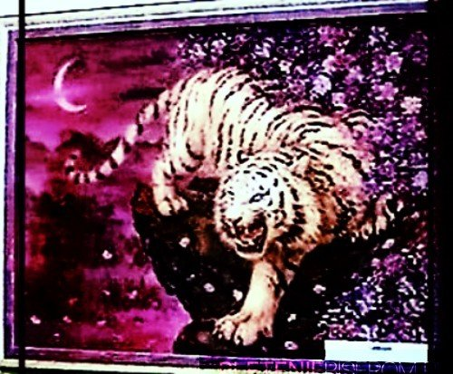 Картина из бисера - Тигр