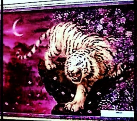 Картина тигр из бисера