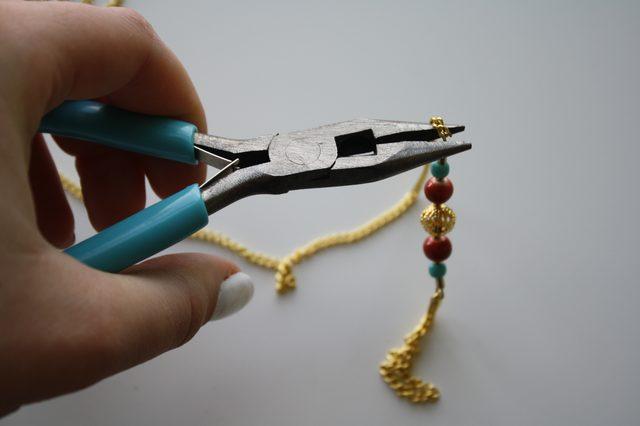 Слейв браслет из бисера для ног-закрепите петлю