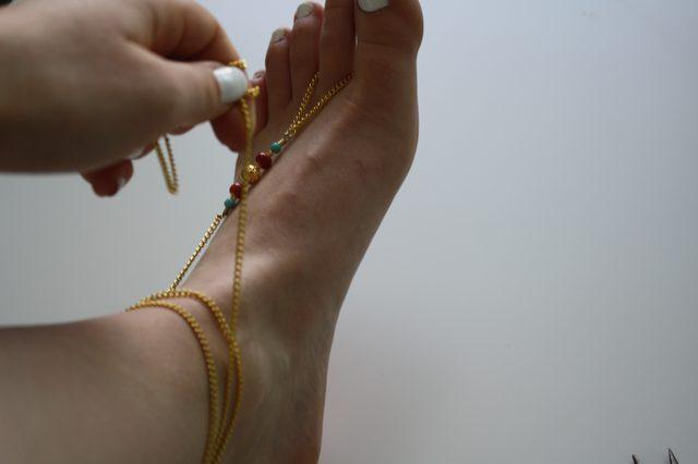 Слейв браслет из бисера для ног-обмотайте петлю вокруг ноги