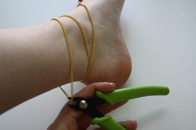 Слейв браслет из бисера для ног-перережьте цепочку сзади