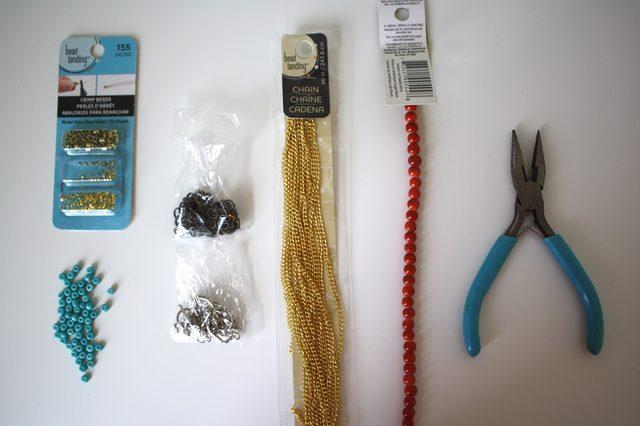 Слейв браслет из бисера для ног-материалы