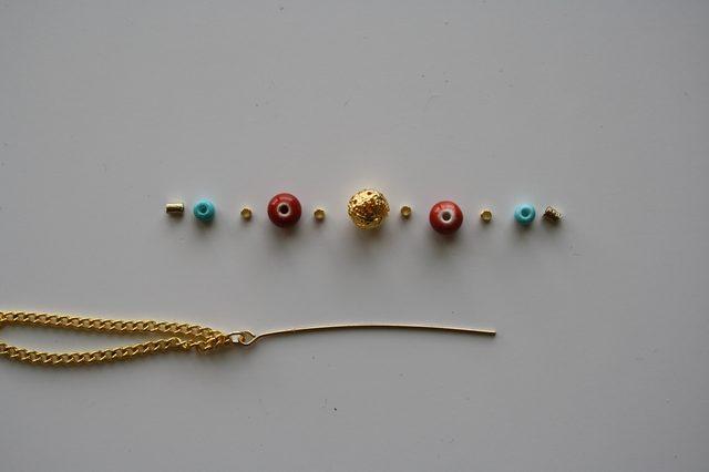 Слейв браслет из бисера для ног-разложите бусины