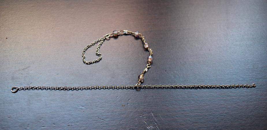 Слейв браслет из бисера и бусин-прикрепите к браслету