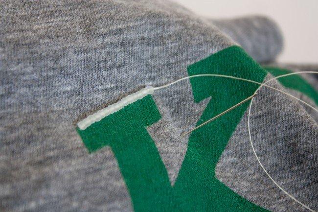 Вышивка бисером на футболке-сделайте первые стежки