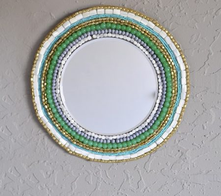 Зеркало с бисером своими руками