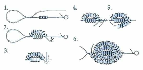 Схема в французской технике плетения бисером