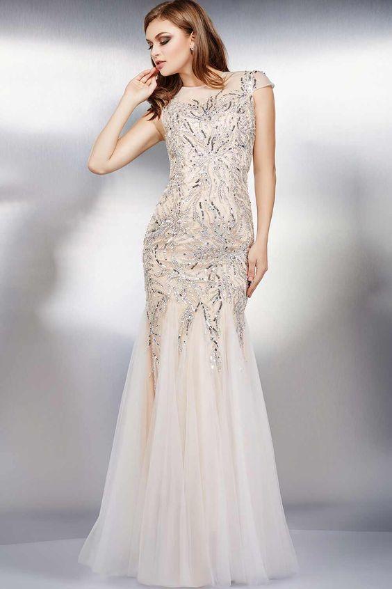 Расшитое бисером платье от бренда «Jovani»