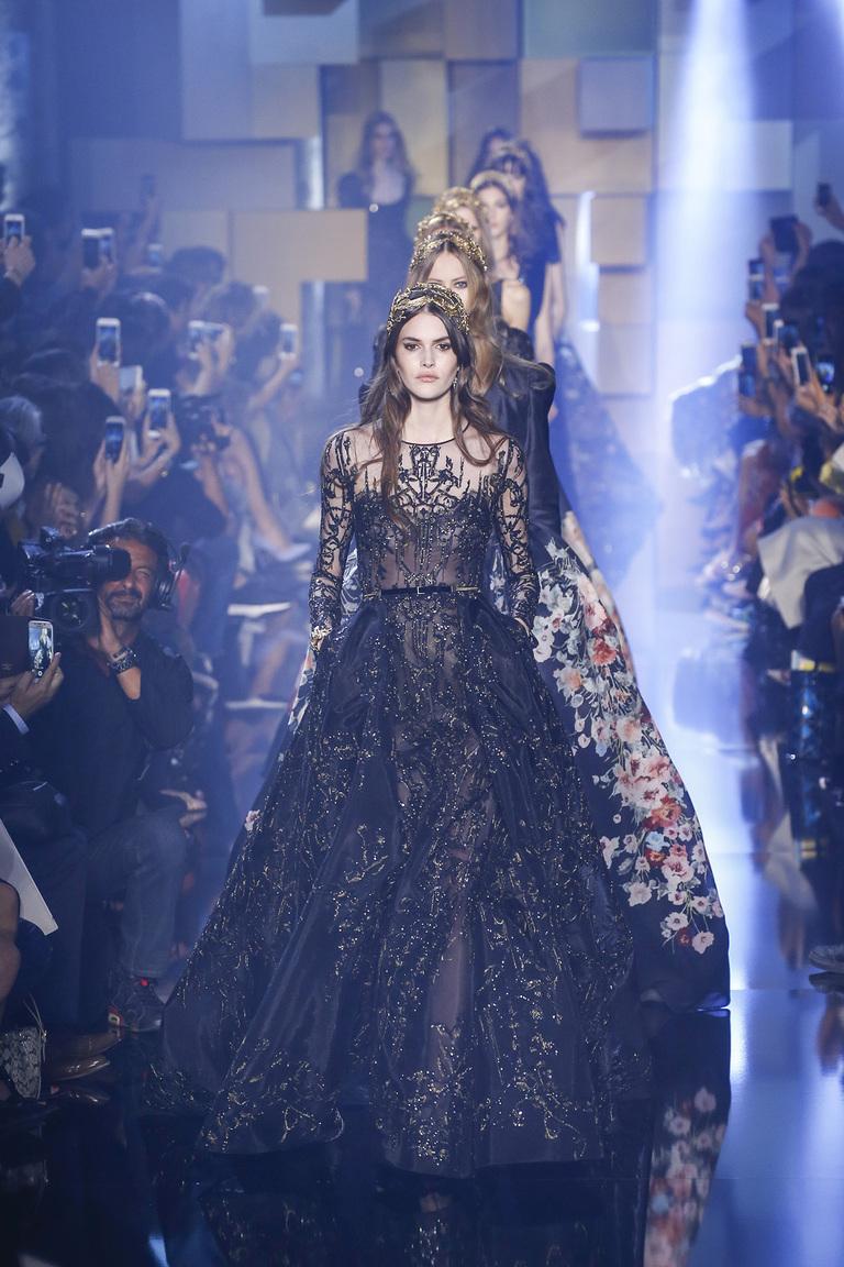 Вышивка бисером на платьях Эли Сааба