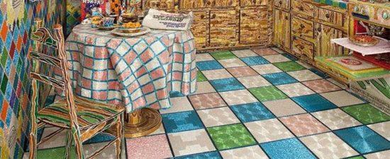 Кухня из бисера от мастера бисероплетения Луизы Лу