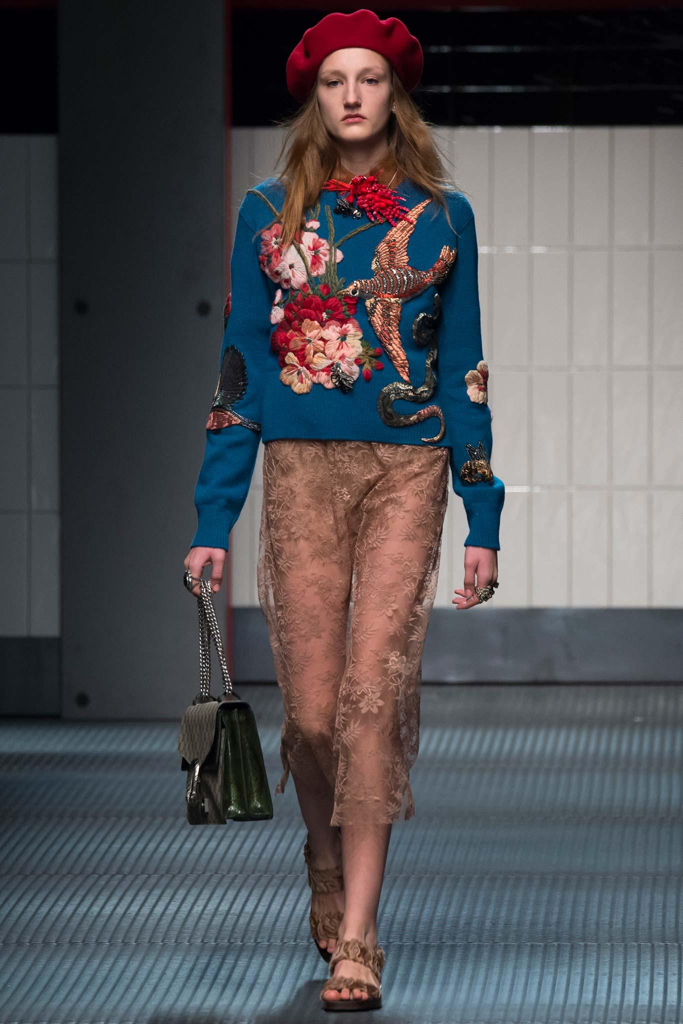 Расшитый бисером пуловер Gucci
