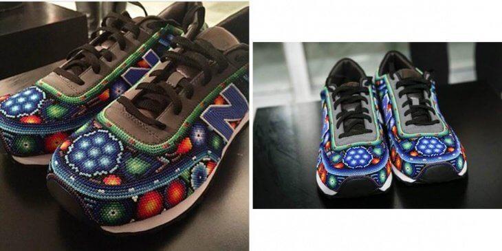 Дизайнерские кроссовки с бисером