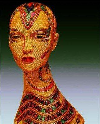Яркие скульптуры из бисера от супругов Вэгман