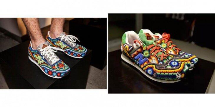 Бисерные кроссовки от дизайнера