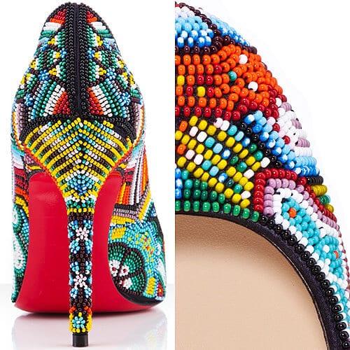 Вышивка бисером на обуви