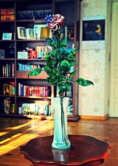 Бисерная роза для первой леди США(4)