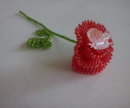 Как сплести розу из бисера для начинающих - 32