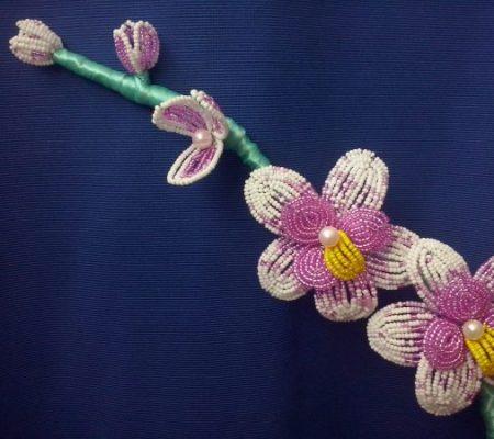 Орхидея из бисера схема плетения 361