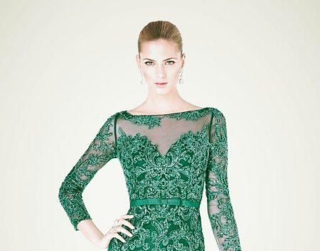 Расшитые бисером платья Pronovias
