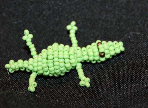 крокодильчик из бисера